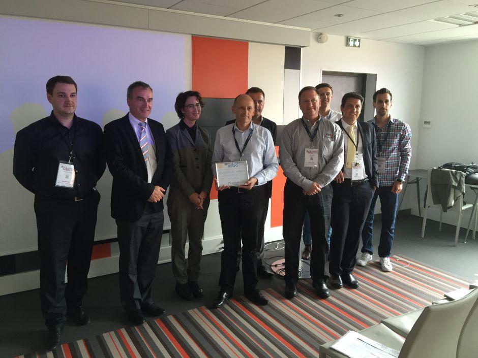 Michel Berg, Président et CEO d'Axilum Robotics, vainqueur de l'Appel à Startups lors de Innorobo 2016
